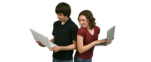 Teens on Laptop